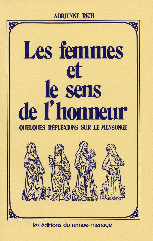 couverture Femmes et le sens de l'honneur