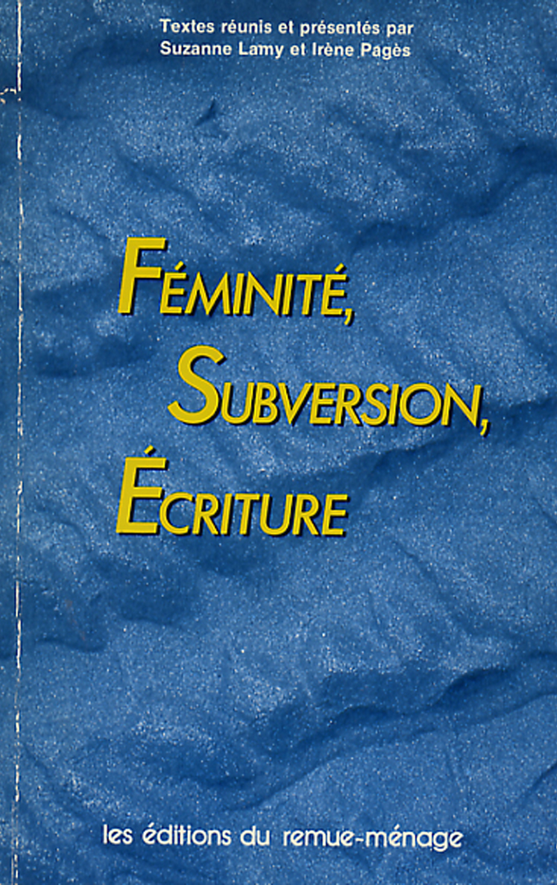 couverture Féminité subversion