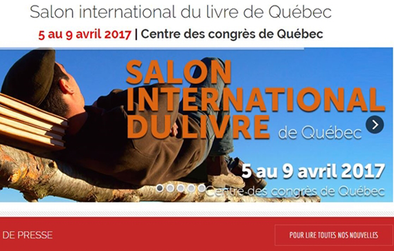 Remue m nage au salon international du livre de qu bec for Salon du livre 2017